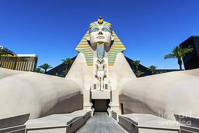 Las Vegas Photograph - Luxor Casino Egyptian Pharaoh Las Vegas Wide by Aloha Art