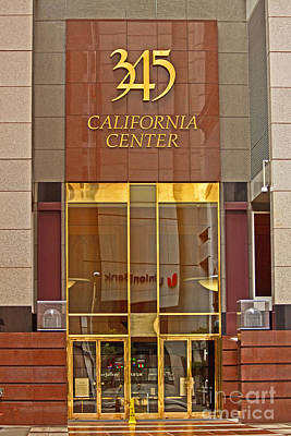 Luxurious Front Entrance In The Financial District In San Francisco Art Print by Mark Hendrickson
