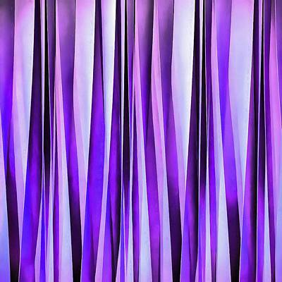 Digital Art - Luxurious Lilac, Purple And Silver Stripy Pattern by Tracey Harrington-Simpson