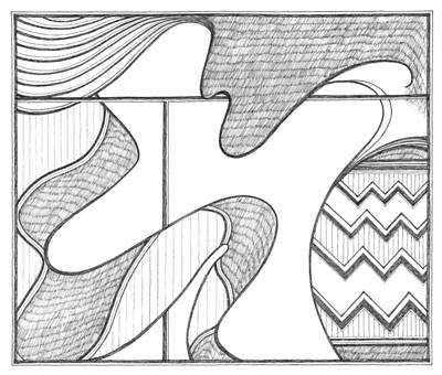 Abstract Design Drawing - Luxury by Cecily McKeown