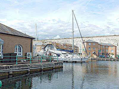 Photograph - Luxury Motor Boat Emerging Brighton Marina by Dorothy Berry-Lound