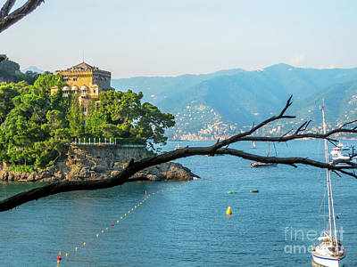 Park Portofino Italy Photograph - Luxury Villa Portofino by Benny Marty