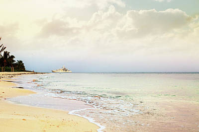 Photograph - Luxury Yacht On Caribbean Sea by Susan Schmitz