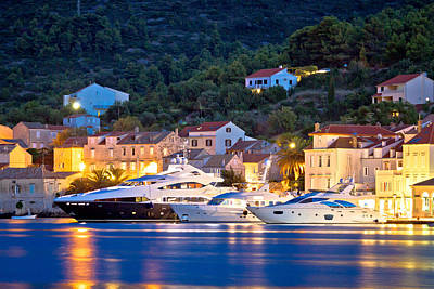 Photograph - Luxury Yachts In Town Of Vis Waterfront by Brch Photography