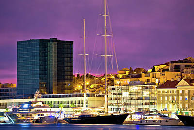 Photograph - Luxury Yachts On Split Waterfront Evening View by Brch Photography