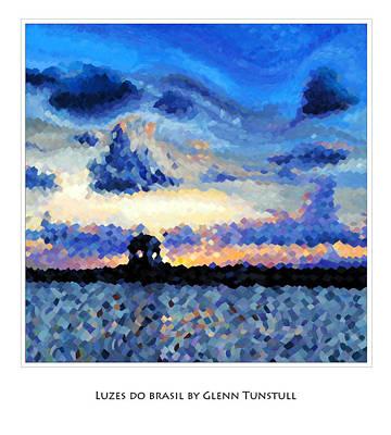 Painting - Luzes Do Brasil Poster by Glenn Tunstull
