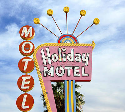 Photograph - Holiday Motel Las Vegas by David Lee Thompson