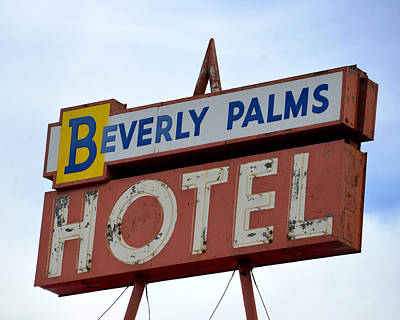 Photograph - Old Hotel Sign Las Vegas by David Lee Thompson