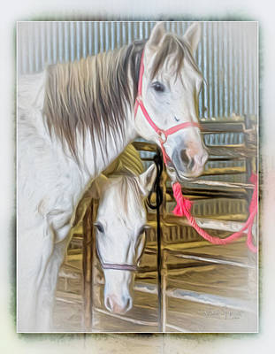 Digital Art - Lvha_ Digital Art Painting #1 by Walter Herrit