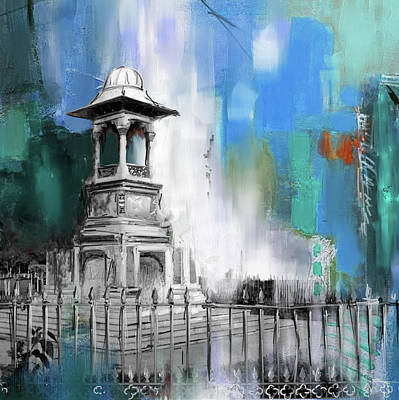 Foundation Painting - Lyall Monument 185 II by Mawra Tahreem