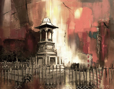 Foundation Painting - Lyall Monument 185 Iv by Mawra Tahreem