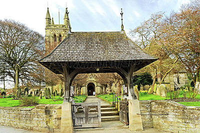Lych Gate To All Saints Church - Helmsley Art Print