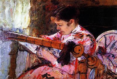 Loom Digital Art - Lydia At The Tapestry Loom by Mary Cassatt