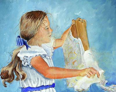Lydia's 9th Birthday Original by Carolyn Coffey Wallace