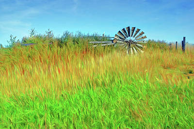 Photograph - Lying Down On The Job - Windmill by Nikolyn McDonald
