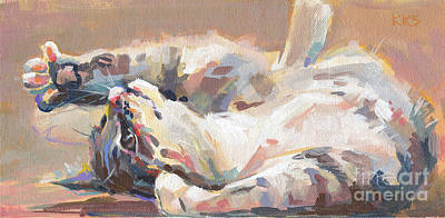 Feline Painting - Lying In Wait by Kimberly Santini