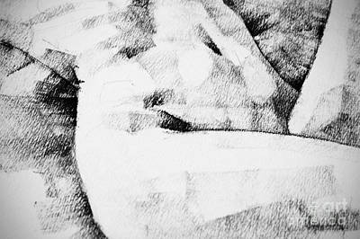 Drawing - Lying Woman Close Up Detail Drawing by Dimitar Hristov