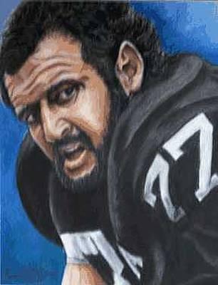 Oakland Raiders Painting - Lyle Alzado by Kenneth Kelsoe