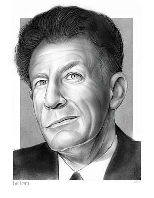 Drawing - Lyle Lovett by Greg Joens