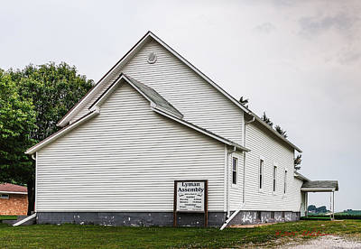 Photograph - Lyman Assembly Church by Edward Peterson