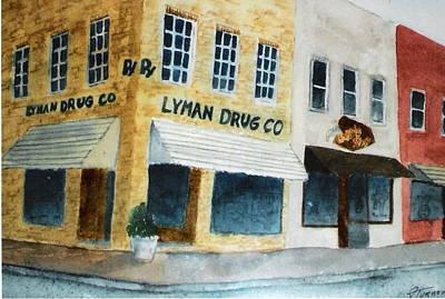 Drug Stores Painting - Lyman Drug Store by Felix Turner