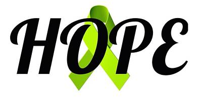 Digital Art - Lyme Awareness Ribbon Of Hope by Laura Michelle Corbin
