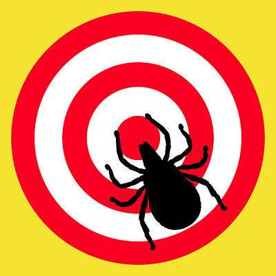 Digital Art - Lyme Disease Ixodes Tick On Target by Richard Reeve