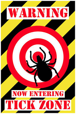 Digital Art - Lyme Disease - Tick Zone by Richard Reeve