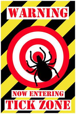 Digital Art - Lyme Disease - Tick Zone by Richard Reeve