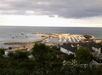 Photograph - Lyme Regis Harbour by Julia Woodman