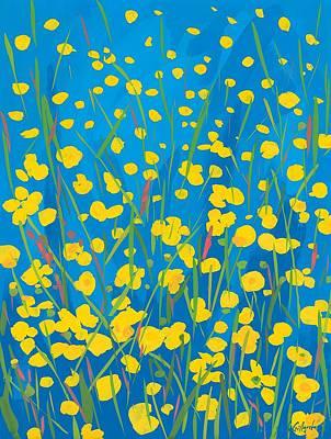 Painting - Lympstone Buttercups by Sarah Gillard