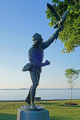 Lynch Park Statue Beverly Ma Art Print by Toby McGuire