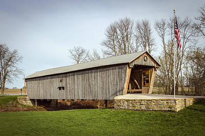 Music Royalty-Free and Rights-Managed Images - Lynchburg Covered Bridge by Jack R Perry