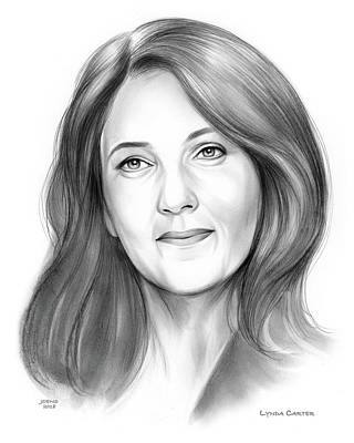 Drawings - Lynda Carter by Greg Joens