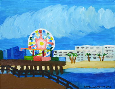 Autism Painting - Lyndas Ferris Wheel by Anthony Larocca
