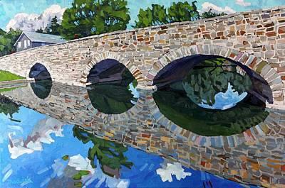 Furnace Painting - Lyndhurst Bridge by Phil Chadwick