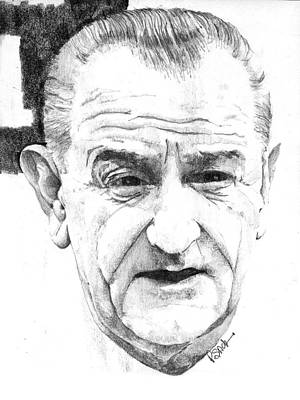 Drawing - Lyndon B. Johnson by Paul Sachtleben