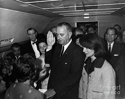 Lyndon B. Johnson Sworn Art Print by Science Source