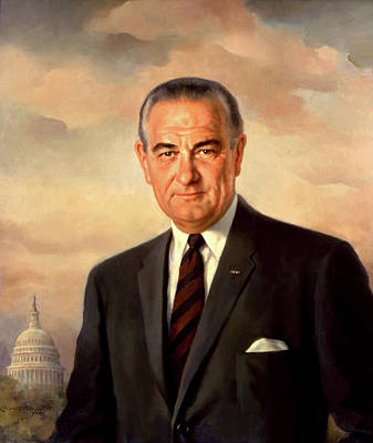 Painting - Lyndon Baines Johnson by Mountain Dreams