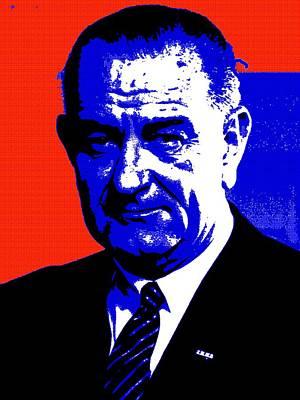 Democratic Mixed Media - Lyndon Baines Johnson by Otis Porritt