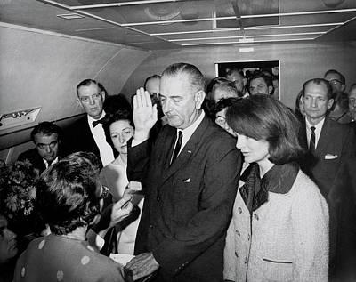 Lyndon Photograph - Lyndon Johnson Takes Oath  November 22, 1963 by Daniel Hagerman