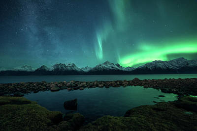 Milky Way Photograph - Lyngsalpan by Tor-Ivar Naess