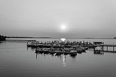 Photograph - Lynn Harbor Surise Lynn Ma Black And White by Toby McGuire