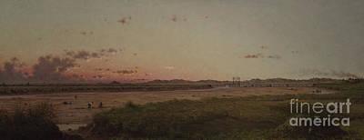 Wetlands Painting - Lynn Meadows, 1863 by Martin Johnson Heade