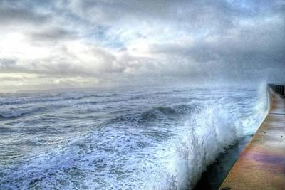 Photograph - Lynn Shore Drive Breakwater Kings Beach Lynn Ma by Toby McGuire