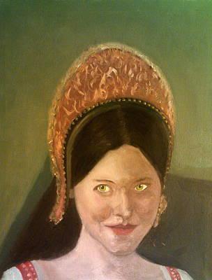 Lynne Frederick As Queen Katherine Howard Art Print