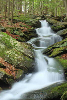 Photograph - Lynnes Falls New England National Scenic Trai by John Burk