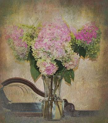 Digital Art - Lynn's Hydrangea's  by Fran J Scott
