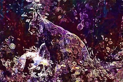 Digital Art - Lynx Cat Wildcat Eurasischer Lynx  by PixBreak Art