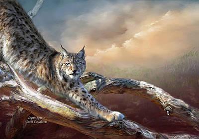 Lynx Spirit Art Print by Carol Cavalaris